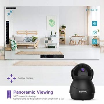 [Versione Aggiornata] Topcony 1080P HD Telecamera IP di videosorveglianza con Wi-Fi, telecamera wifi interno, IP camera connessione WiFi stabile, Two-Ways Audio di antirumore, Motion Detection - 6