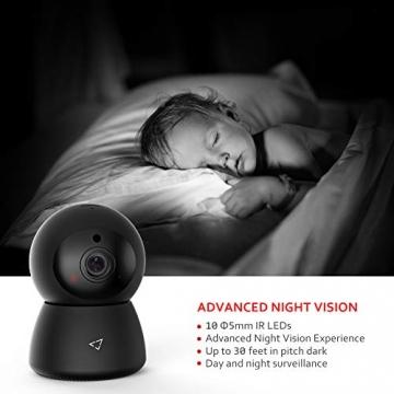 Victure FHD 1080P Telecamera di Sorveglianza WiFi,videocamera IP Interno Wireless con Visione Notturna, Audio Bidirezionale, Notifiche in tempo reale del sensore di movimento - 2