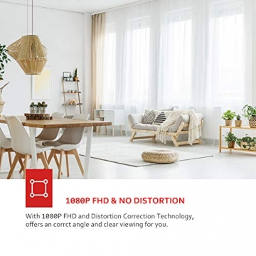 Victure FHD 1080P Telecamera di Sorveglianza WiFi,videocamera IP Interno Wireless con Visione Notturna, Audio Bidirezionale, Notifiche in tempo reale del sensore di movimento - 5