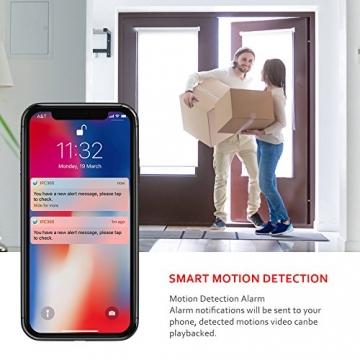 Victure FHD 1080P Telecamera di Sorveglianza WiFi,videocamera IP Interno Wireless con Visione Notturna, Audio Bidirezionale, Notifiche in tempo reale del sensore di movimento - 4