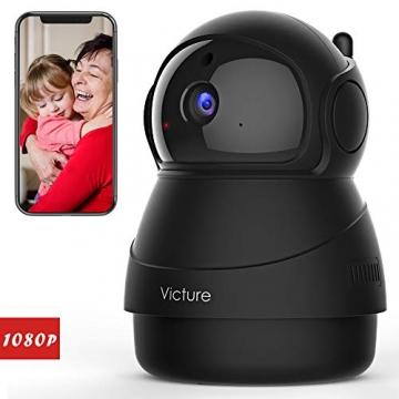 Victure FHD 1080P Telecamera di Sorveglianza WiFi,videocamera IP Interno Wireless con Visione Notturna, Audio Bidirezionale, Notifiche in tempo reale del sensore di movimento - 1