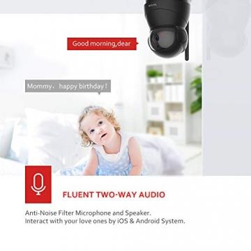Victure FHD 1080P Telecamera di Sorveglianza WiFi,videocamera IP Interno Wireless con Visione Notturna, Audio Bidirezionale, Notifiche in tempo reale del sensore di movimento - 3