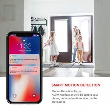 Victure FHD 1080P Telecamera di Sorveglianza WiFi,videocamera IP Interno Wireless con Visione Notturna, Audio Bidirezionale, Notifiche in tempo reale del sensore di movimento - 6