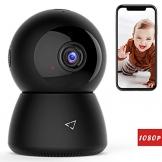 Victure FHD 1080P Telecamera di Sorveglianza WiFi,videocamera IP Interno Wireless con Visione Notturna, Audio Bidirezionale, Notifiche in tempo reale del sensore di movimento-A - 1