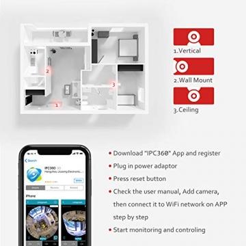Victure FHD 1080P Telecamera di Sorveglianza WiFi,videocamera IP Interno Wireless con Visione Notturna, Audio Bidirezionale, Notifiche in tempo reale del sensore di movimento - 9