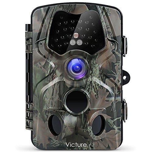 """Victure - Fotocamera da Caccia, 12 MP, 1080P, Full HD, grandangolo, Visione a infrarossi, Visione Notturna, 20 m, Impermeabile IP66, con Display LCD da 2,4"""" - 1"""