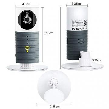 Videocamera di Sorveglianza Wifi Telecamera IP Cam Baby Monitor a infrarossi con Visione Notturna e Rilevatore Movimento Citofono a due vie Per iOS/Android - 7