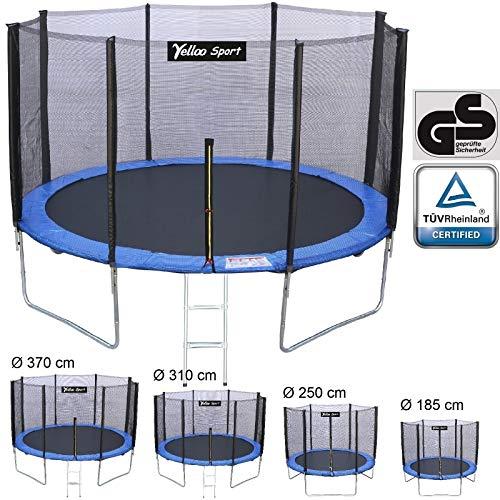 YELLOO YellooSport Trampolino Tappeto Elastico Giardino Salto Bambini Diametro 185 250 310 370 cm Certificato TUV GS Alta qualità (Diametro, 185 cm) - 1