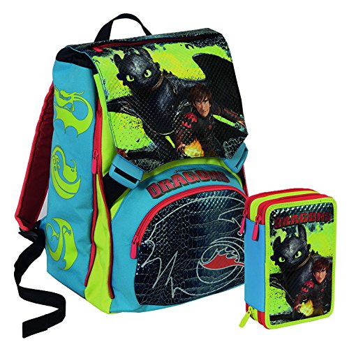 ZAINO +ASTUCCIO SCHOOL PACK DRAGONS VIKINGS - 1