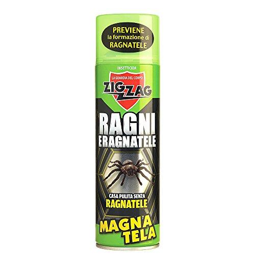 Zig Zag, Magnatela, Insetticida per Ragni e Ragnatele ad alta residualità, previene formazione di ragnatele fino a 40 giorni, formato 500 ml - 1