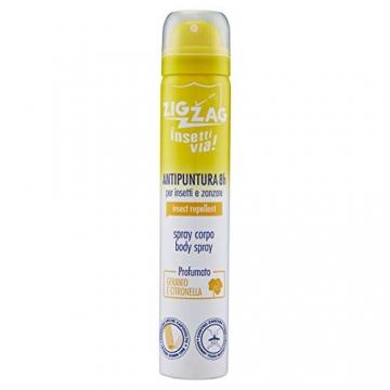 Zig Zag, Repellente, Insetti, Spray Corpo Insettivia al profumo di Geranio e Citronella Giava, repellente per zanzare,zanzare tigre,zecche, 100 ml - 1