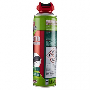 Zig Zag, Spaziotempo, Insetticida Multinsetto Spray per insetti striscianti e volanti, agisce istantaneamente, formato 500 ml - 2