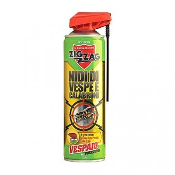 Zig Zag, Vespaio Precision, Insetticida Vespe spray ad azione immediata, con valvola a doppia erogazione, formato 400 ml - 4