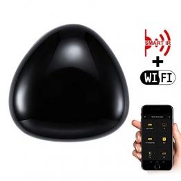 ALLOMN Telecomando IR Intelligente, Telecomando Universale IR WiFI AI Funziona con Alexa/Home Page di Google/IFTTT, Telecomando Vocale APP, Funzione Timer per Condizionatore TV DVD Audio - 1
