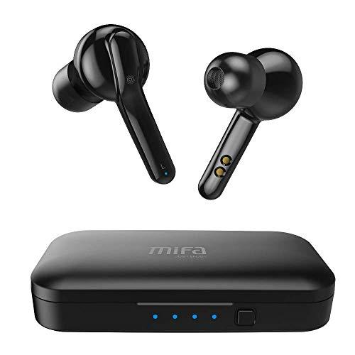 Auricolari Wireless Bluetooth, MIFA Cuffie Wireless Stereo Senza Fili V5,0 Sportivi in Ear con Custodia da Ricarica Microfono Leggeri Hi-Fi Cuffie per Samsung iPhone iPad Huawei Sony HTC, Nero - 1