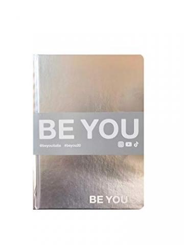 BE YOU. Diario Agenda Scuola Metal Argento Datato 2019/2020 12 Mesi Mini 16x12 cm + Penna Colorata Omaggio - 1
