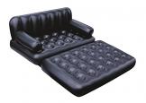 Bestway 75054 Divano Multifunzione con Sacca, 188 x 152 x 64 cm, PVC, Nero, 74 x 60 x 25 inch - 1