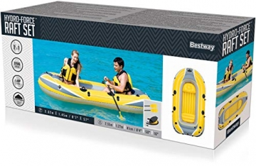 Bestway- Hydro-Force raft Set gommone, Colore Blu, 255x127x41 cm, 61068 - 45