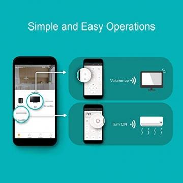 BroadLink Mini 3 - Telecomando universale SmartHome a infrarossi con Wi-Fi per iPhone/Android Phone, compatibile con Alexa, Google Home e IFTTT - 4