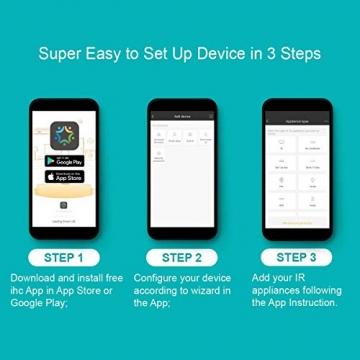 BroadLink Mini 3 - Telecomando universale SmartHome a infrarossi con Wi-Fi per iPhone/Android Phone, compatibile con Alexa, Google Home e IFTTT - 5