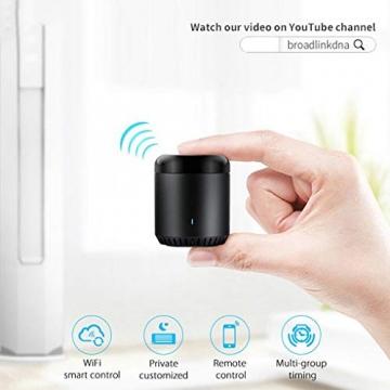 BroadLink Mini 3 - Telecomando universale SmartHome a infrarossi con Wi-Fi per iPhone/Android Phone, compatibile con Alexa, Google Home e IFTTT - 10