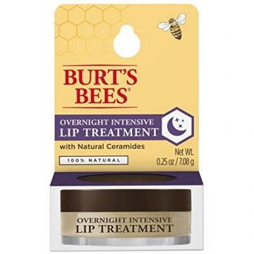 Burt Bees 100% natural overnight lip trattamento intensivo, ultra-conditioning lip Care, 7.08g - 7