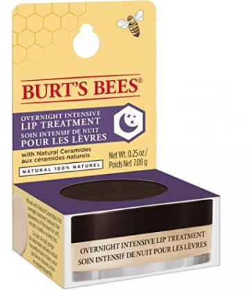 Burt Bees 100% natural overnight lip trattamento intensivo, ultra-conditioning lip Care, 7.08g - 9