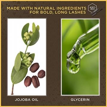 Burt Bees Burt api 100% naturale nutriente mascara, Black Brown, 11.5g, nero marrone - 6