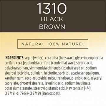 Burt Bees Burt api 100% naturale nutriente mascara, Black Brown, 11.5g, nero marrone - 8