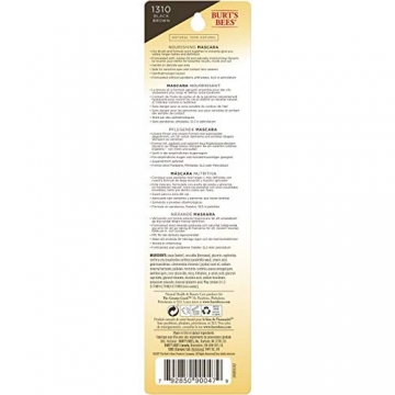Burt Bees Burt api 100% naturale nutriente mascara, Black Brown, 11.5g, nero marrone - 10