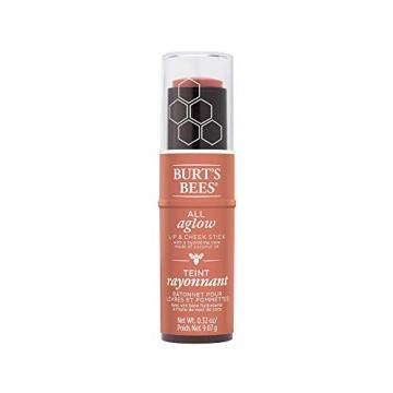 Burt Bees Burt api 100% naturali all Aglow lip & Cheek stick, pesca stagno-1Tube-8.5g, pesca stagno - 3