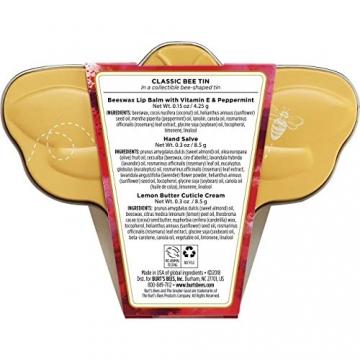 Burt Bees Classic Bee latta kit-pezzi kit 4,3gram di cera d' api balsamo per le labbra con vitamina E e menta, 8,5gram mano Salve, 8,5gram limone burro cuticola CREAM3Stück - 2
