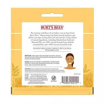 burt' S Bees 100% natural lip idratante maschera, condizionata cura delle labbra con semi di prato in schiuma e oli mandorla - 2