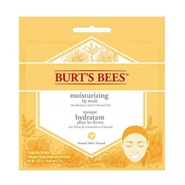 burt' S Bees 100% natural lip idratante maschera, condizionata cura delle labbra con semi di prato in schiuma e oli mandorla - 1