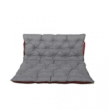 Chicreat cuscino per pallet Supporto per pallet con schienale, totale ca. 120 x 140 x 10 cm, cuscino reversibile: grigio / rosso - 2