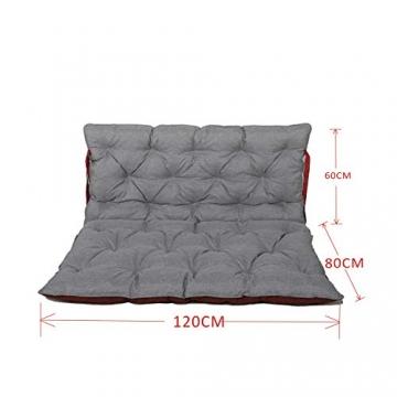 Chicreat cuscino per pallet Supporto per pallet con schienale, totale ca. 120 x 140 x 10 cm, cuscino reversibile: grigio / rosso - 3