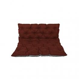 Chicreat cuscino per pallet Supporto per pallet con schienale, totale ca. 120 x 140 x 10 cm, cuscino reversibile: grigio / rosso - 1