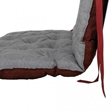 Chicreat cuscino per pallet Supporto per pallet con schienale, totale ca. 120 x 140 x 10 cm, cuscino reversibile: grigio / rosso - 4