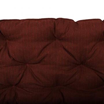 Chicreat cuscino per pallet Supporto per pallet con schienale, totale ca. 120 x 140 x 10 cm, cuscino reversibile: grigio / rosso - 5