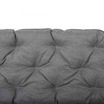 Chicreat cuscino per pallet Supporto per pallet con schienale, totale ca. 120 x 140 x 10 cm, cuscino reversibile: grigio / rosso - 6