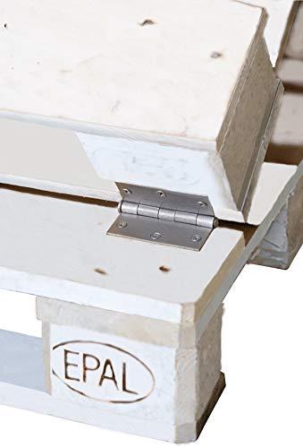 clc Divano Pallet richiudibile Made in Italy, Bianco Esterno Interno Eco - Senza Cuscino - 2