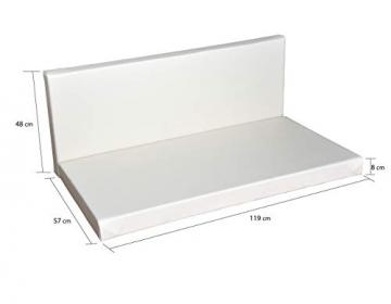 clc Divano Pallet richiudibile Made in Italy, Bianco Esterno Interno Eco - Senza Cuscino - 3