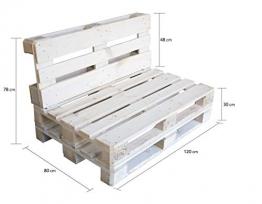 clc Divano Pallet richiudibile Made in Italy, Bianco Esterno Interno Eco - Senza Cuscino - 1
