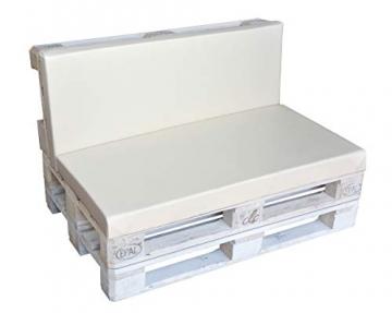 clc Divano Pallet richiudibile Made in Italy, Bianco Esterno Interno Eco - Senza Cuscino - 5