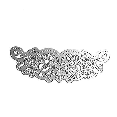 Fustelle da taglio a forma di fiore di pizzo in metallo, stencil per scrapbooking, fai da te, album di ritagli, biglietti, decorazioni artistiche (fiore) - 1