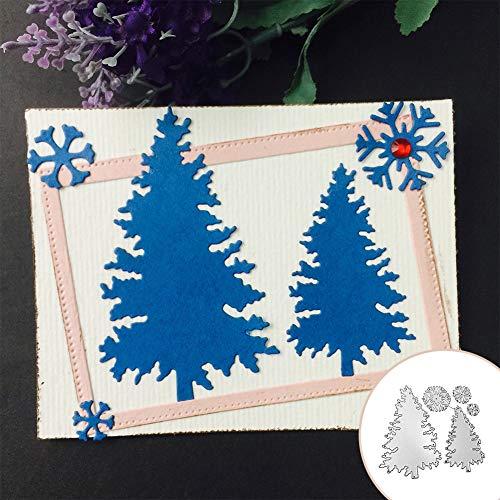 Fustelle da taglio per scrapbooking, albero di Natale, fiocco di neve, fustelle in metallo, fustelle fai da te, album di ritagli, stencil - 1