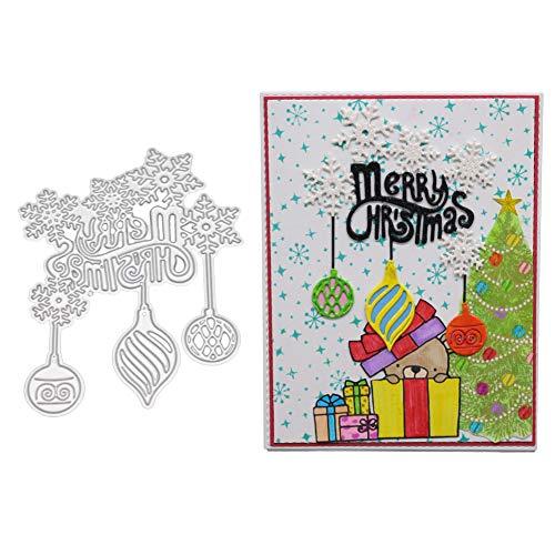 Fustelle da taglio per scrapbooking, fustelle in metallo a forma di fiocco di neve natalizio, per fai da te, scrapbooking, biglietti, goffratura - 1
