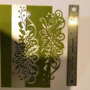 Fustelle in metallo per fai da te, scrapbooking, bordi di fiori, fustelle in metallo per fai da te, album di ritagli, stencil, colore argento - 4