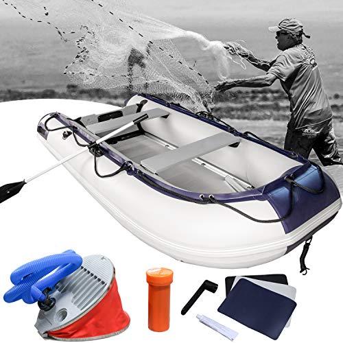 Hengda Gommone Canotto 380cm Canoa Gonfiabile Riviera di 5 Persone Barca a Motore 320 * 151 * 70cm - 1