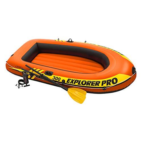 Intex Explorer PRO 300 Remi/Pompa Cm 244X117X36 Canotto E Canoa Gonfiabili Gioco 512, 244x 117 x 36 cm - 1